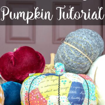 Decoupage a Pumpkin for Fall with this Quilt Inspired Design