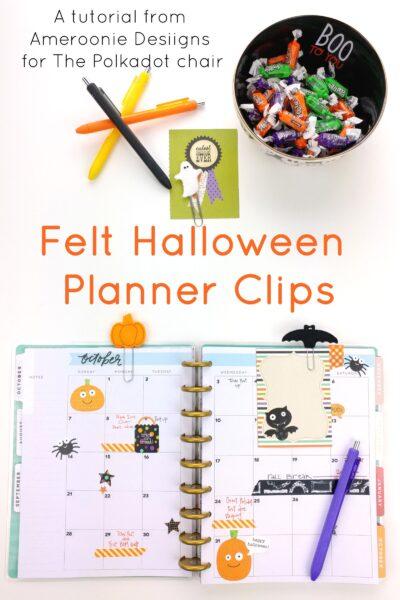 Felt Halloween Planner Clips Tutorial