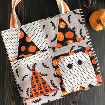Quilt Block Tote Bag Tutorial – Halloween Version!