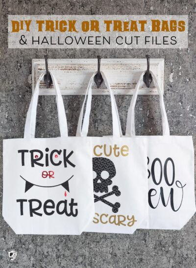 DIY Trick or Treat Bags made with the Cricut Maker {and free Halloween SVG files}