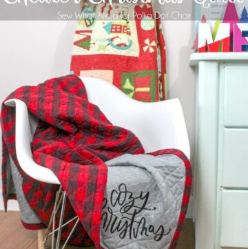 Cute and Cozy Cheater Christmas Quilt Tutorial