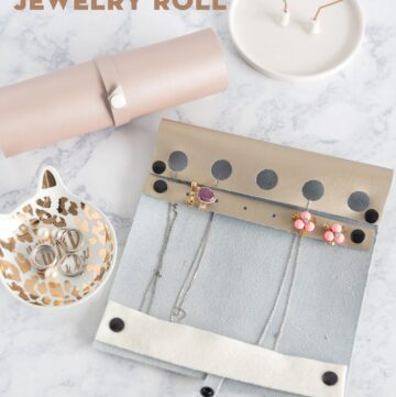 DIY Travel Jewelry Roll | A Cricut Maker Project
