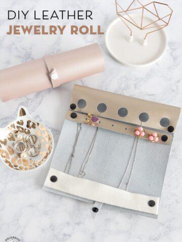 DIY Travel Jewelry Roll