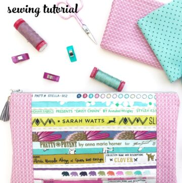 Fabric Selvage Zip Pouch Sewing Tutorial