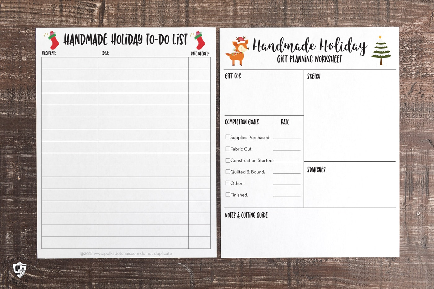 graphic relating to Free Printable Christmas Planner titled Totally free Printable Home made Trip Planner Job Internet pages