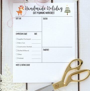 Free Printable Handmade Holiday Planner Project Pages