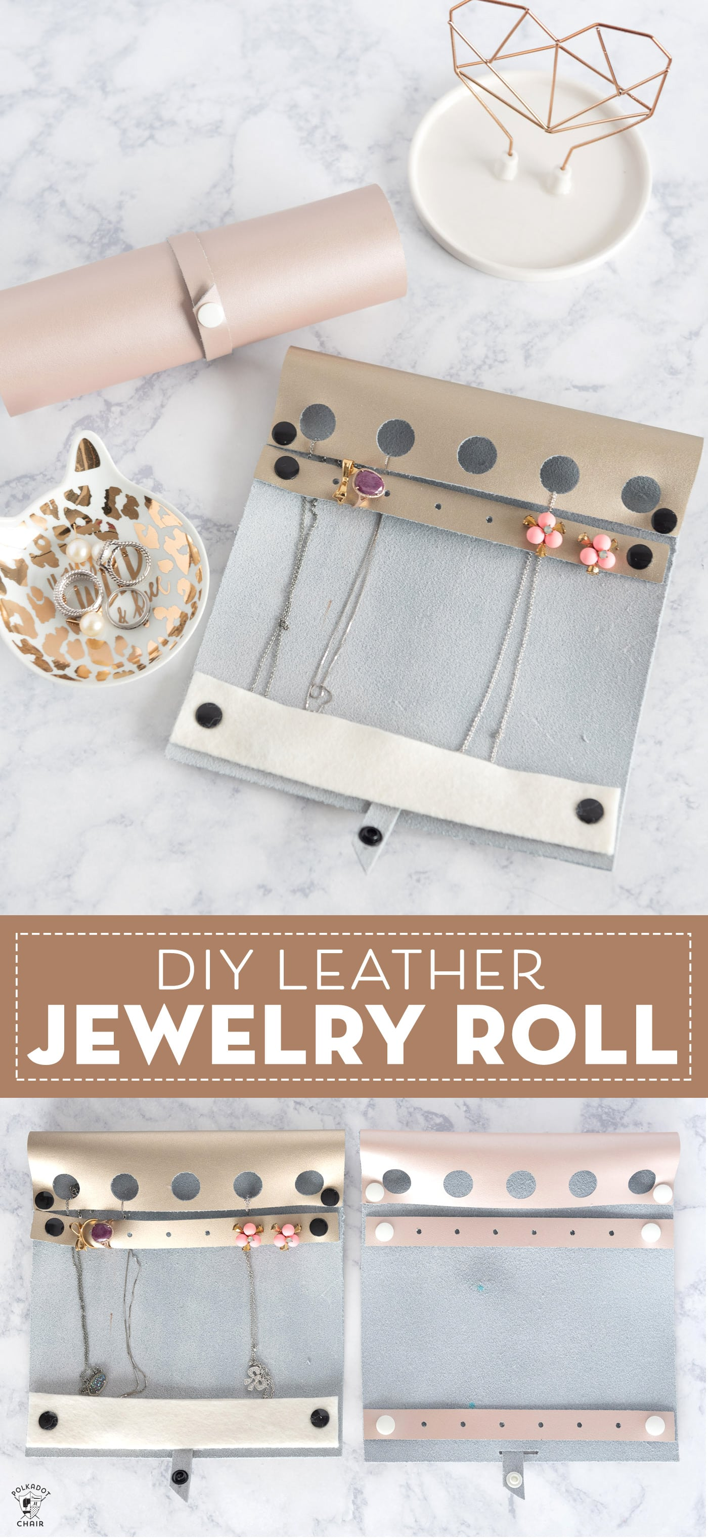 DIY Travel Jewelry Roll