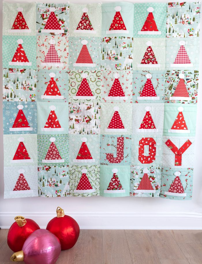 Santa's Hat Shop Christmas Quilt Pattern