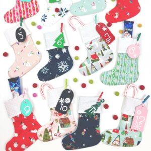 Mini Stocking DIY Advent Calendar