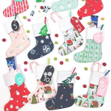 Christmas Stocking DIY Advent Calendar