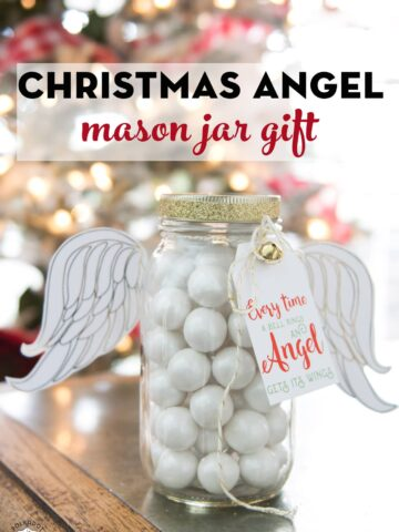 Angel Mason Jar gift idea