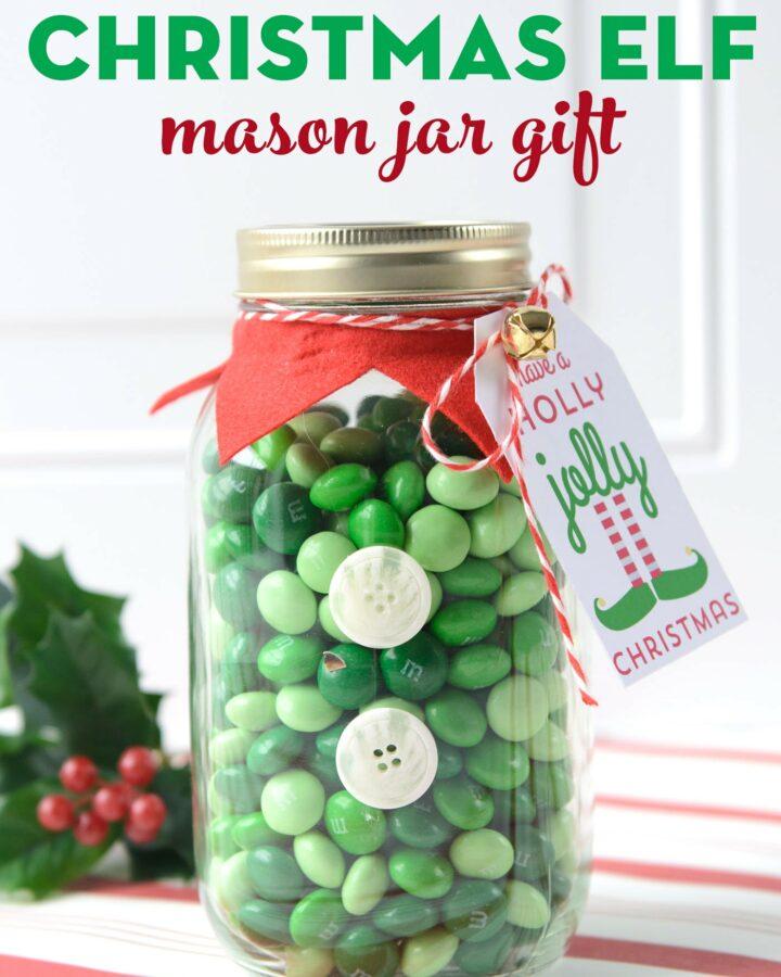 elf mason jar gift idea