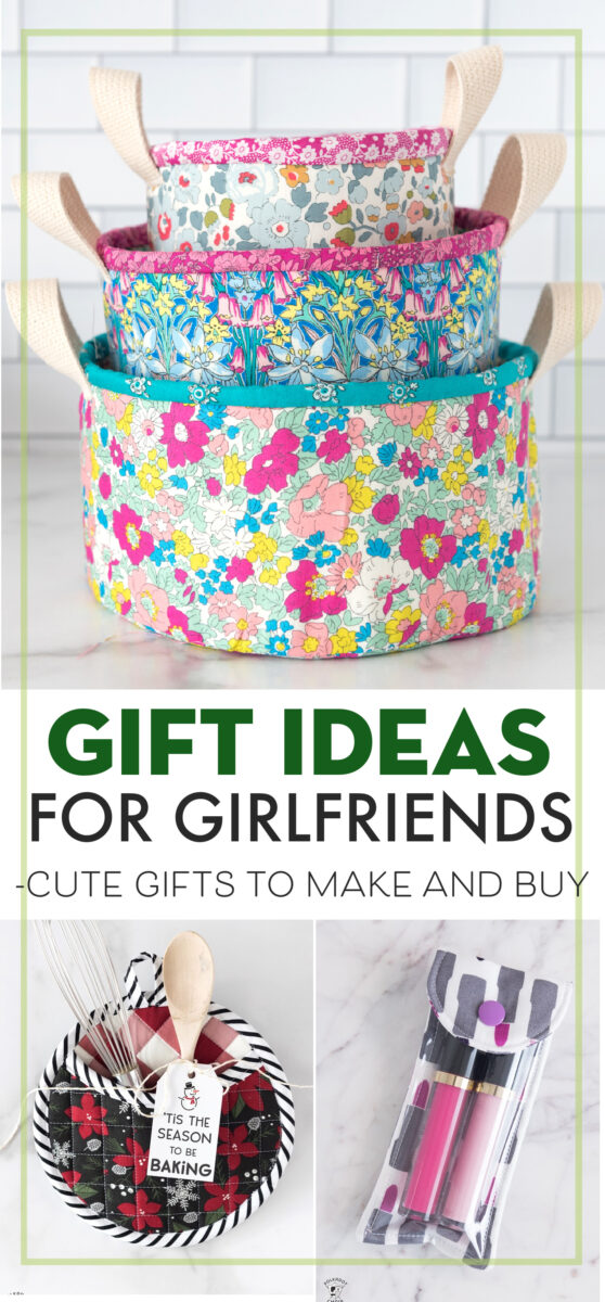 collage image with gift ideas to diy for girlfriends with text overlay
