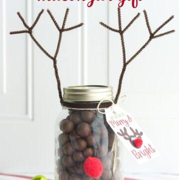 Reindeer Mason jar Gift idea