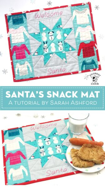 Santa's Snack Mat a Christmas Mini Quilt Tutorial