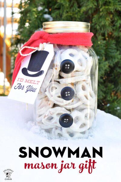 snowman mason jar