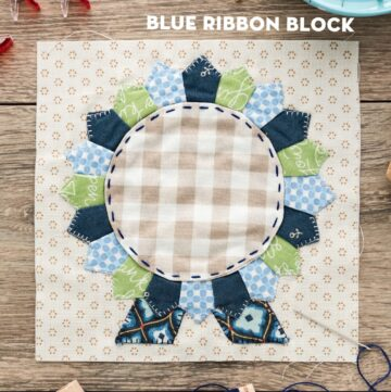 Splendid Sampler Blue Ribbon Quilt Block
