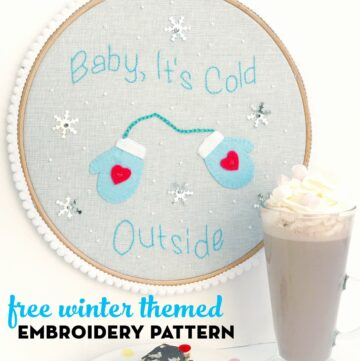 Free Winter Themed Hand Embroidery Pattern