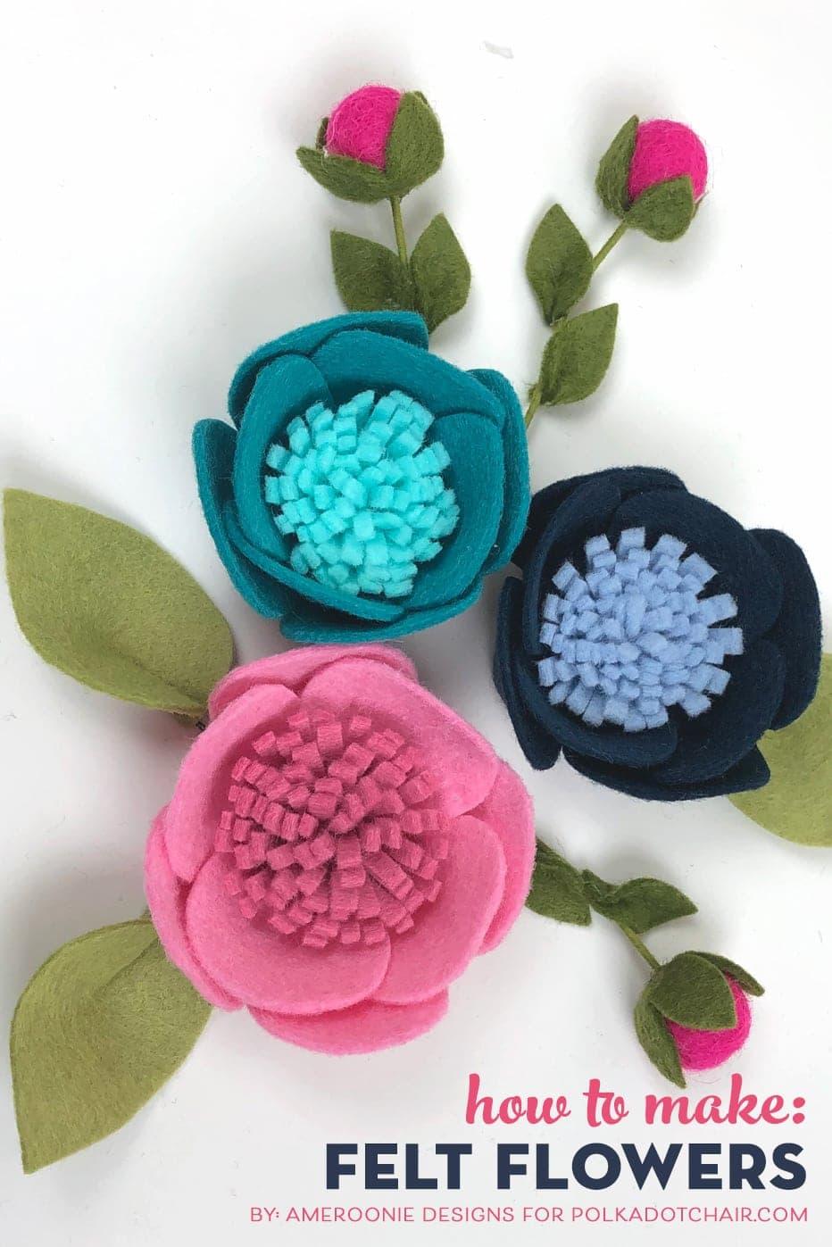 How to make Adorable Felt Flowers