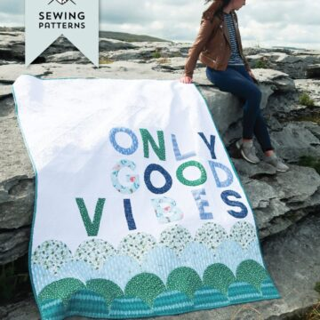 good vibes quilt at beach