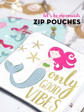 mermaid zip pouch