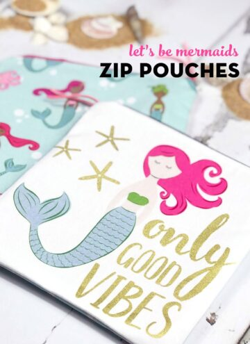 mermaid zip pouch