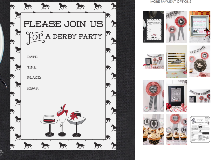 Kentucky Derby Printables The Polka Dot Chair