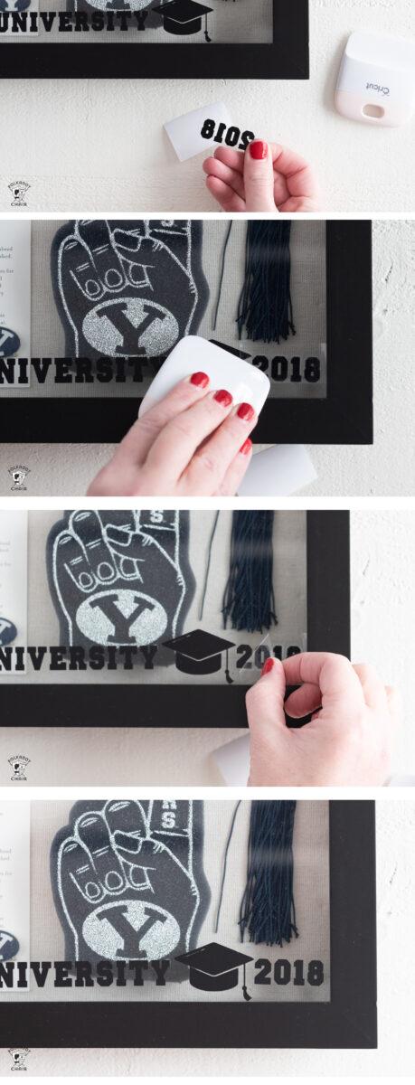Graduation Shadow box with graduation cap, photo and tassel