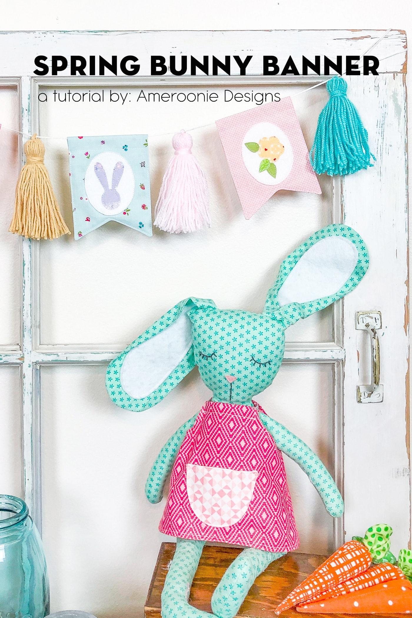 Spring Bunny Banner Tutorial