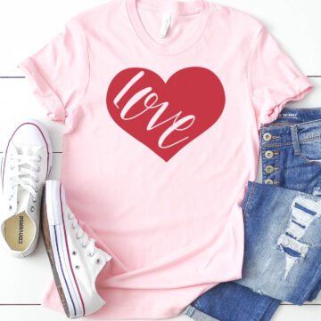 DIY Valentine's Day T-Shirts and Free Valentine SVG Files