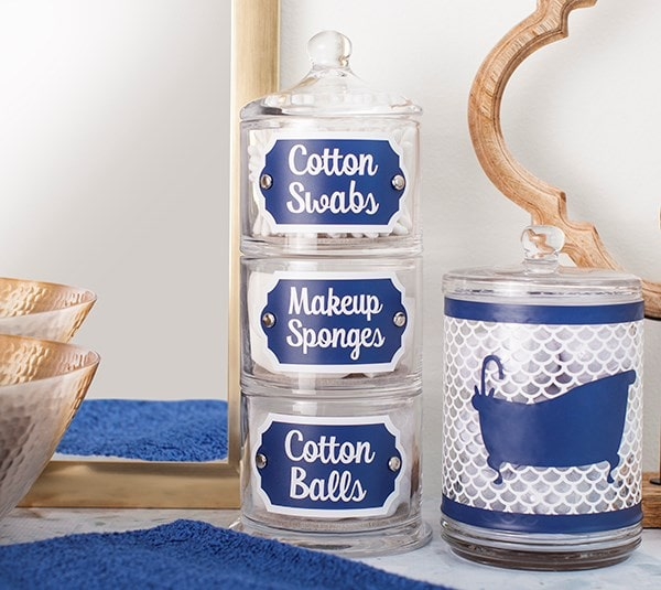 labels for cotton ball jars