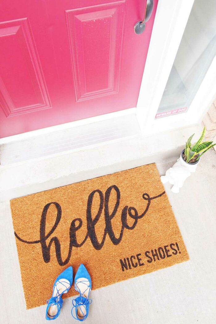 how make a custom doormat