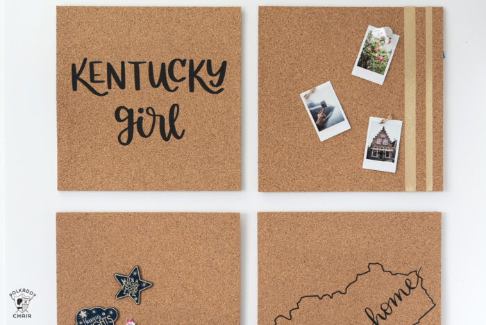 DIY Cork Board on white wall