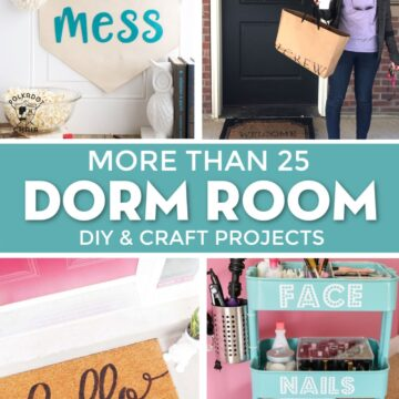 25+ Cute Dorm Room DIY Projects to make with a Cricut