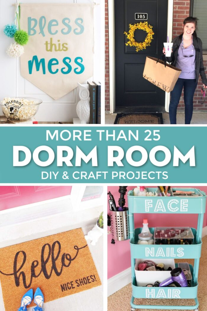 25 Cricut Diy Projects For The Best Dorm Room Decor The Polka Dot