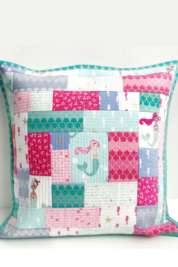 quilt as you go patchwork pillow