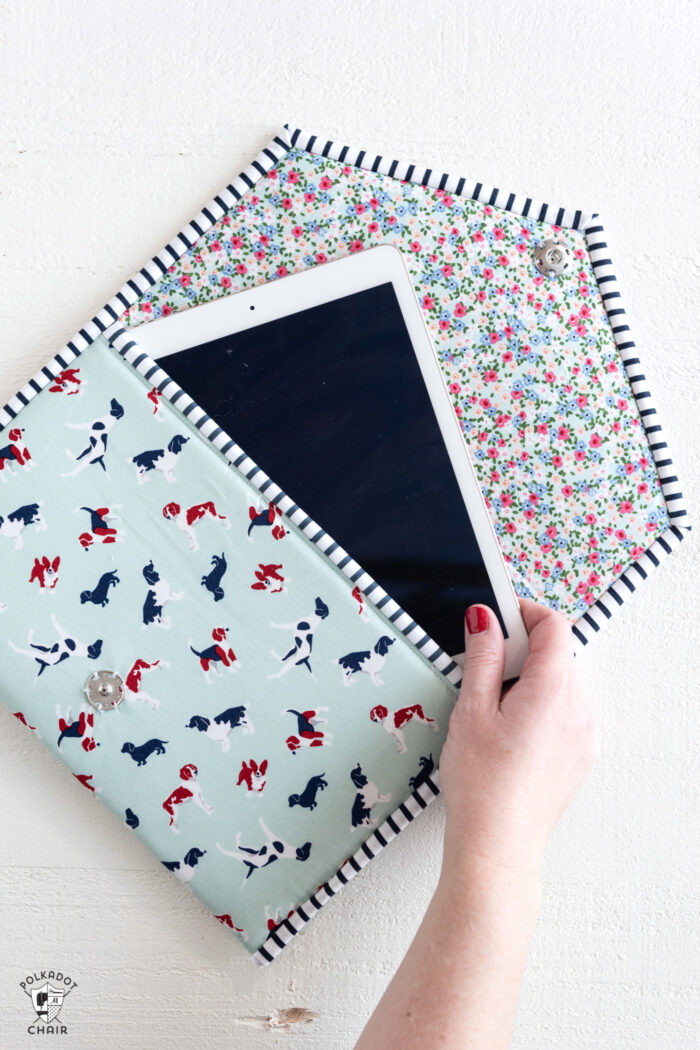 padded tablet case sewing pattern