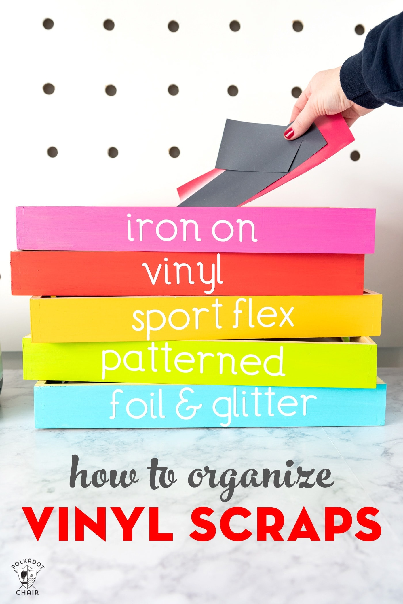 Organize Your Vinyl Scraps With This Colorful Craft Room Storage Tutorial