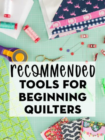 Tools for beginning quilters