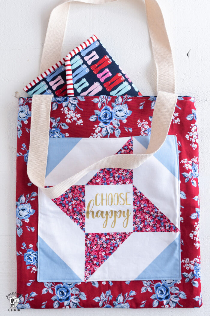 padded tablet case sewing pattern in tote bag