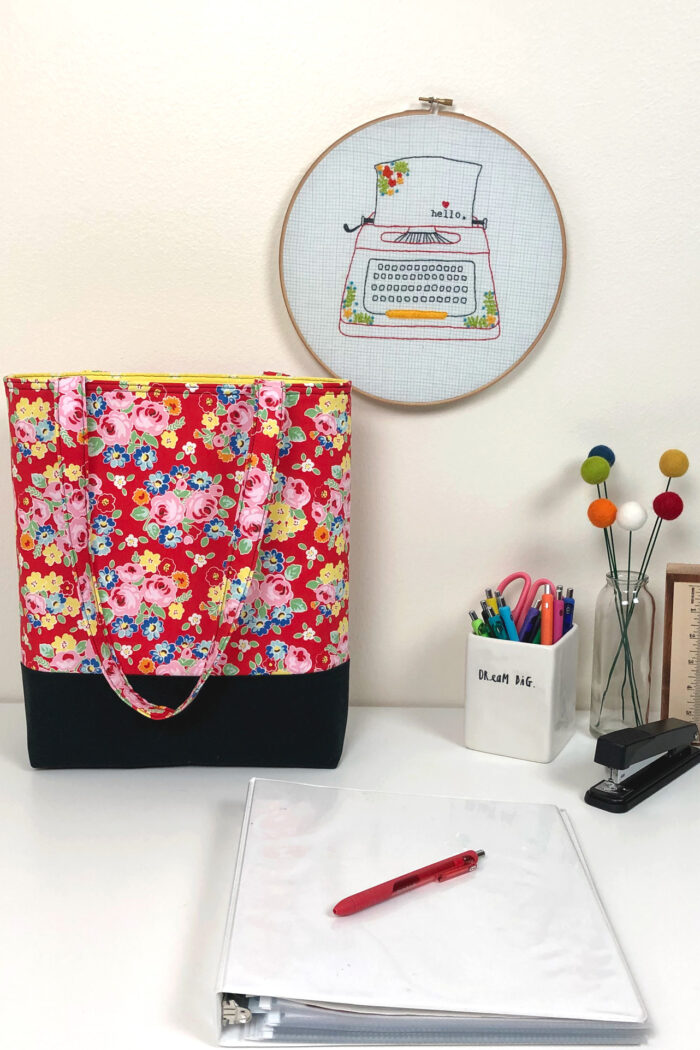 tote bag on table
