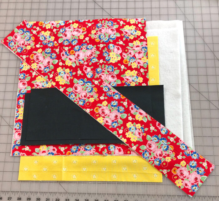 fabric pieces for tote bag