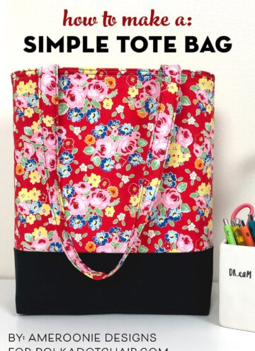 How to make a bag - a simple tote bag pattern