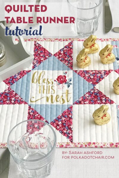 How to Make a Quilted Table Runner