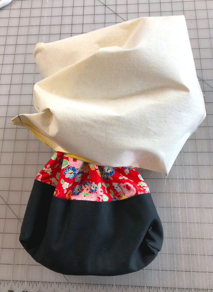 tote bag turned right side out