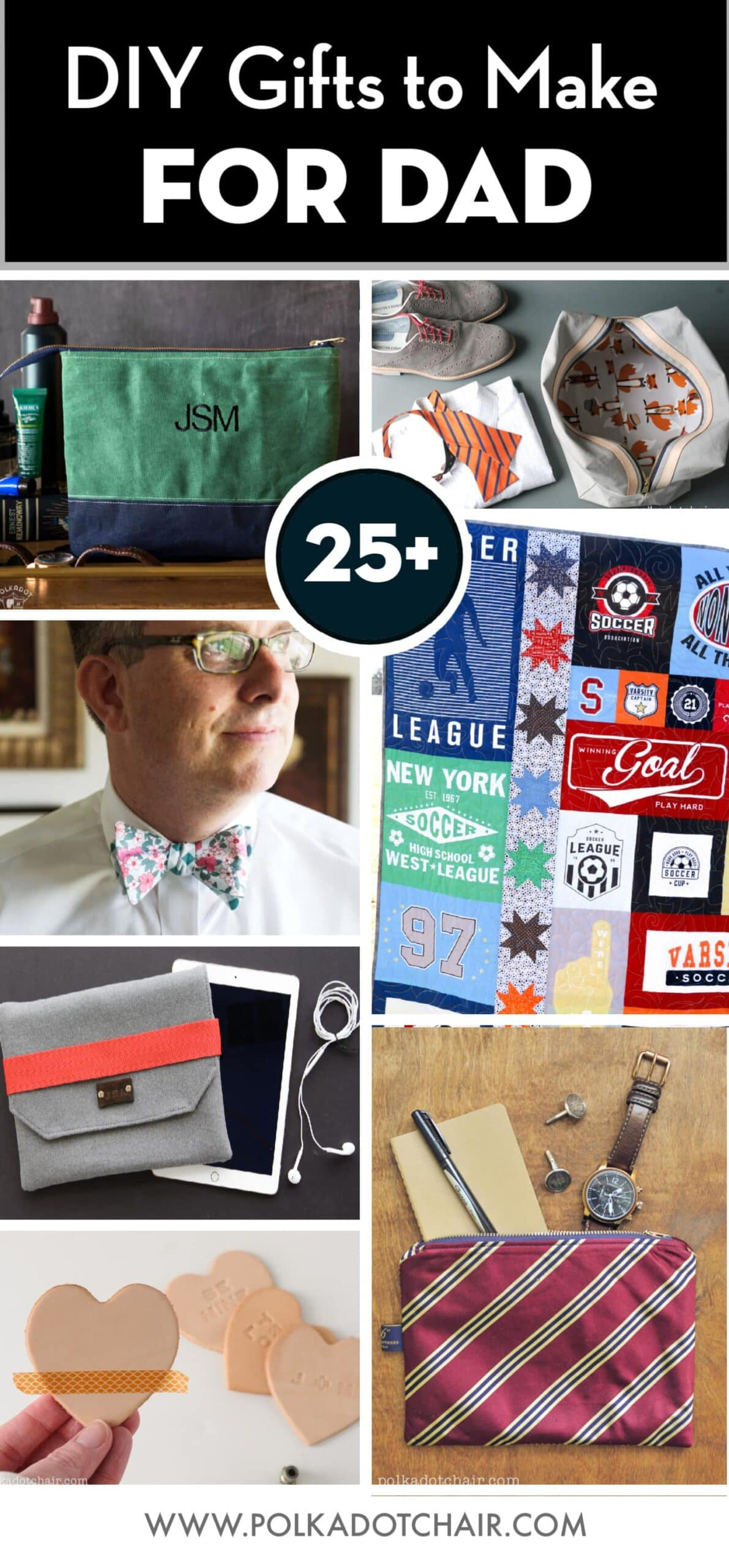 25 Diy Gifts For Dad Perfect For Father S Day Polka Dot Chair