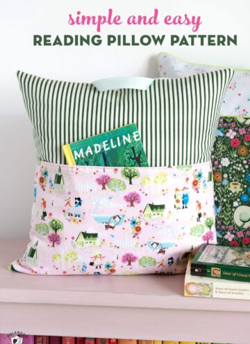 Reading pillows on bench