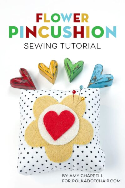 Learn How to Make a Pincushion with Wool Applique