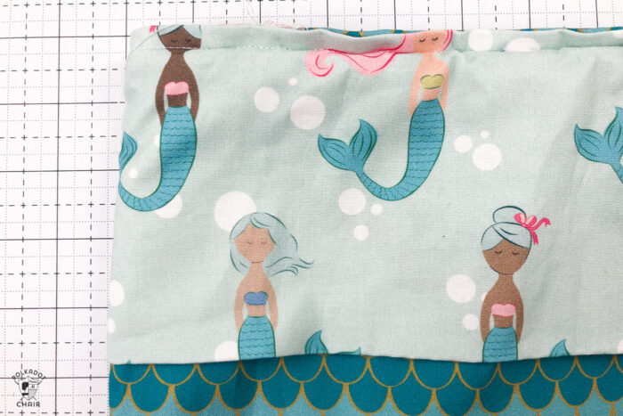Mermaid backpack on white cutting mat