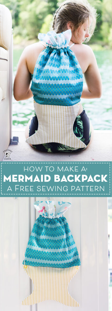 mermaid backpack on boat